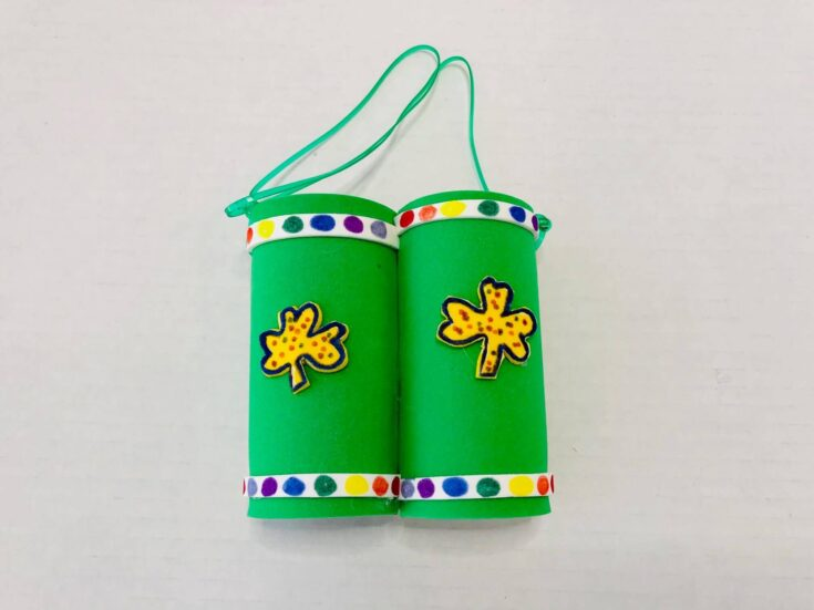 How to Make Toilet Paper Binoculars- St. Patrick's Day Themed